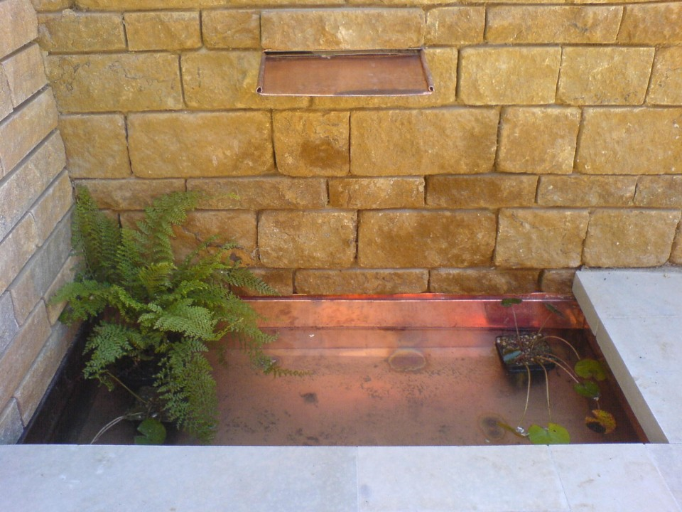 Copper water feature 2
